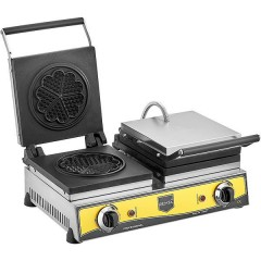 Waffle Makinası Çiftli Çiçek Model Elektrikli 21 cm Çap