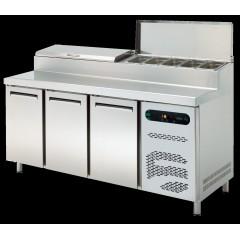 Pizza ve Salata Hazırlık Buzdolabı ASBER-  ETPZ-E-180